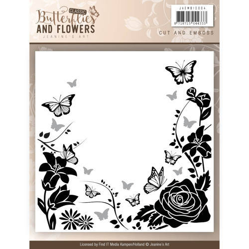 JAEMB10004 Cut and Emboss folder - Jeanines Art - Classic Butterflies and Flowers