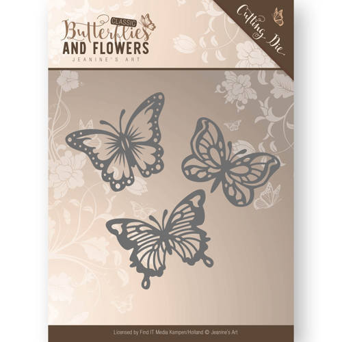 JAD10024 Die - Jeanine's Art - Classic Butterflies and Flowers - Butterflies
