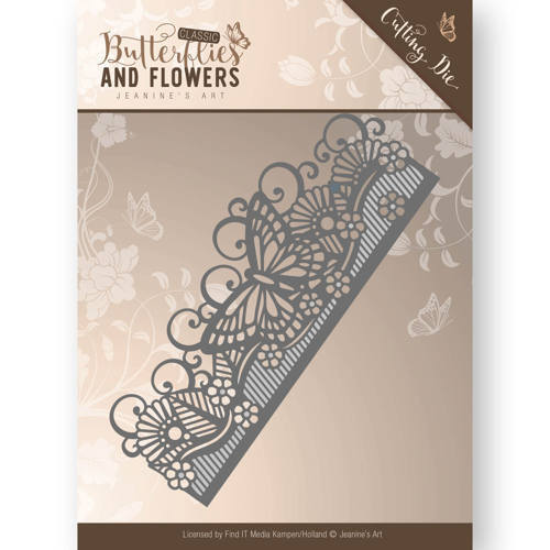 JAD10021 Die - Jeanine's Art - Classic Butterflies and Flowers - Butterfly Border