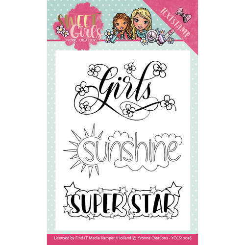YCCS10038 Clearstamp - Yvonne Creations - Sweet Girls