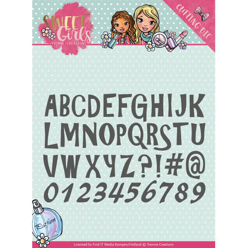 YCD10121 Die - Yvonne Creations - Sweet Girls - Lovely Alphabet