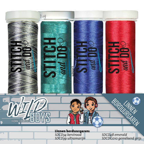 YCGS10004 Stitch and Do Garenset - Yvonne Creations - Wild Boys