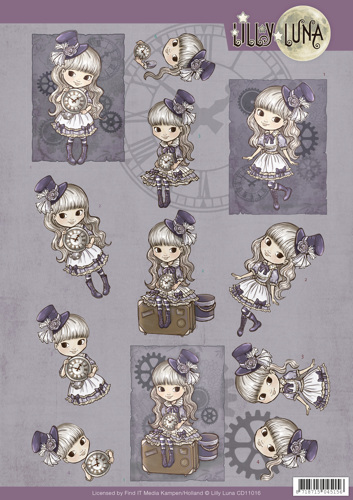 CD11016 3D knipvel Lilly Luna - Steampunk