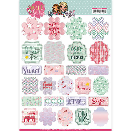YCL10006 Labels - Yvonne Creations - Sweet Girls