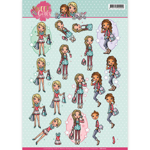 CD11012 3D knipvel - Yvonne Creations - Sweet girls - My World