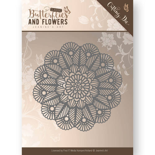 JAD10022 Die - Jeanine's Art - Butterflies and Flowers - Doily