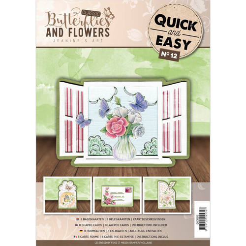 QAE10012 Quick and Easy 12 - Jeanine's Art - Classic Butterflies and Flowers