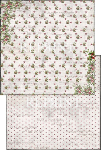 RP0214 Nordic Christmas Collection scrap dubbelzijdig 200gr Holly