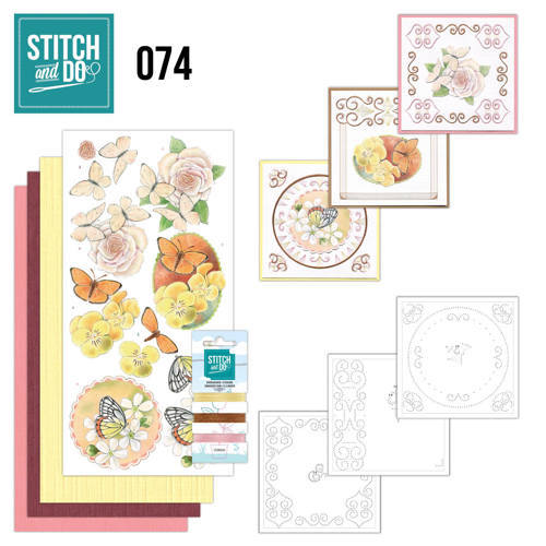 STDO074 Stitch and Do 74 Vlinders en Bloemen
