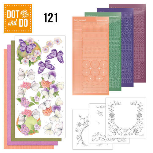 DODO121 Dot and Do 121 - Jeanine`s Art - Vlinders en Bloemen
