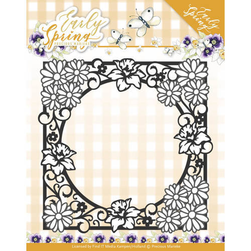 PM10110 Dies - Precious Marieke - Early Spring - Spring Flowers Square Frame