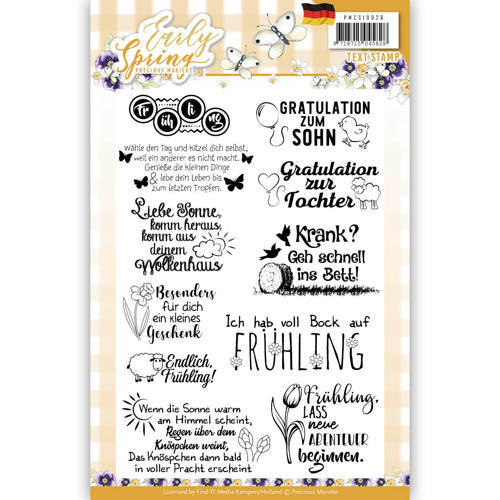 PMCS10026 Textstamp - Precious Marieke - Early Spring - Tekst Duits