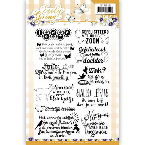 PMCS10024 Textstamp - Precious Marieke - Early Spring