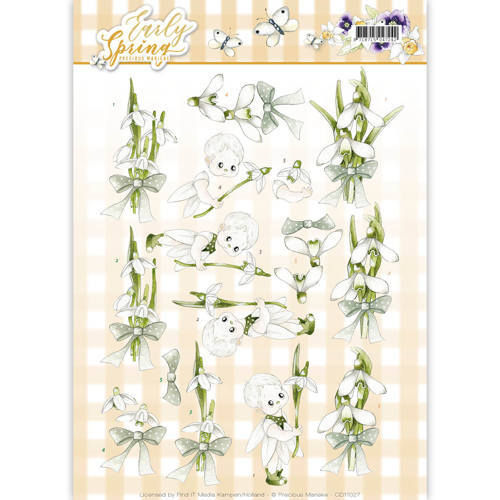 SB10227 3D Pushout - Precious Marieke - Early Spring - Early Daffodils