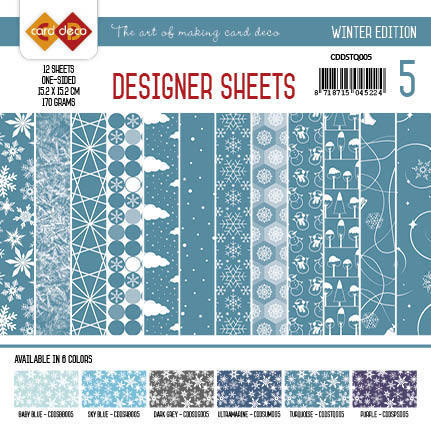CDDSTQ005 Card Deco - Designer Sheets - Winter Edition turquoise