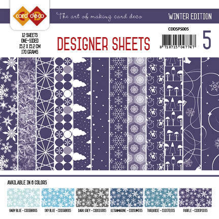 CDDSPS005 Card Deco - Designer Sheets - Winter Edition paars