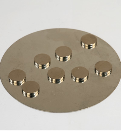 12250-5002 Magnets, extra strong on metalplate
