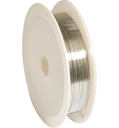 12270-7002 Silver-plated Copper Wire, 0.6mm x 6m, reel