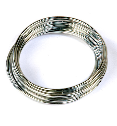12269-6903 Aluminum Wire. Silver. 2.0mm x 4m