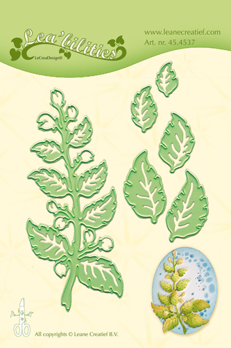 45.4537 Lea'bilitie Twig & Leaves snij en embossing mal