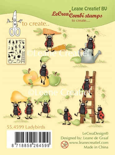55.4599 Combi clear stamp Ladybugs