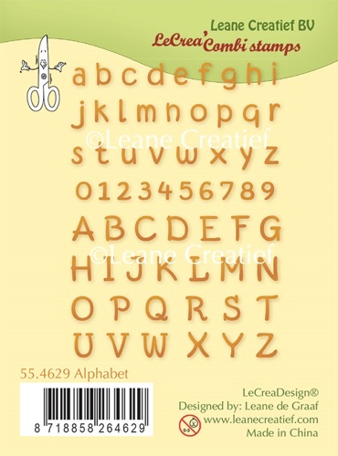 55.4629 Clear stamp Alphabet & numbers
