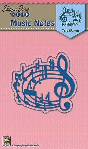 SDB017 Shape Dies blue Musical notes