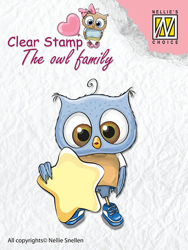 CSO007 Clear Stamps The owl Family star