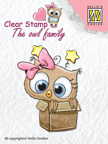 CSO008 Clear Stamps The owl Family in the box