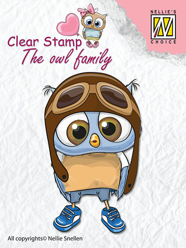 CSO009 Clear Stamps The owl Family pilot