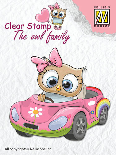 CSO010 Clear Stamps The owl Family car