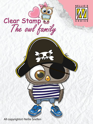 CSO011 Clear Stamps The owl Family pirate