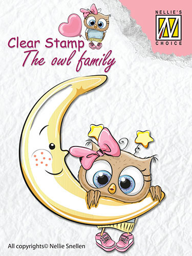 CSO012 Clear Stamps The owl Family moon