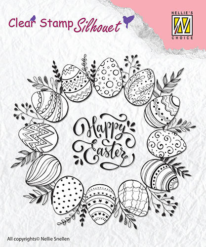 SIL027 Clear Stamps silhouette Happy Easter