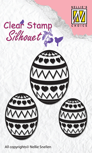 SIL028 Clear Stamps silhouette Easter Eggs