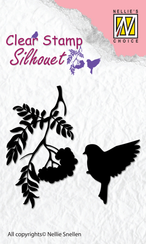 SIL029 Clear Stamps silhouette Birdsong-4