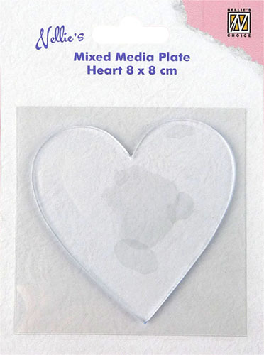 NMMP006 Mixed Media Plates heart-shape