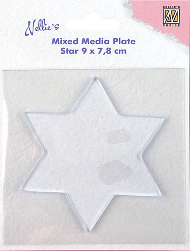 NMMP007 Mixed Media Plates star-shape