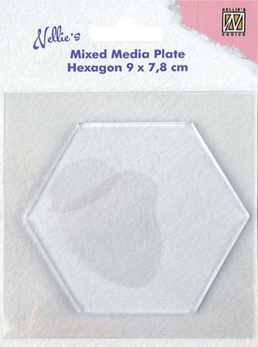 NMMP008 Mixed Media Plates Hexagon-shape