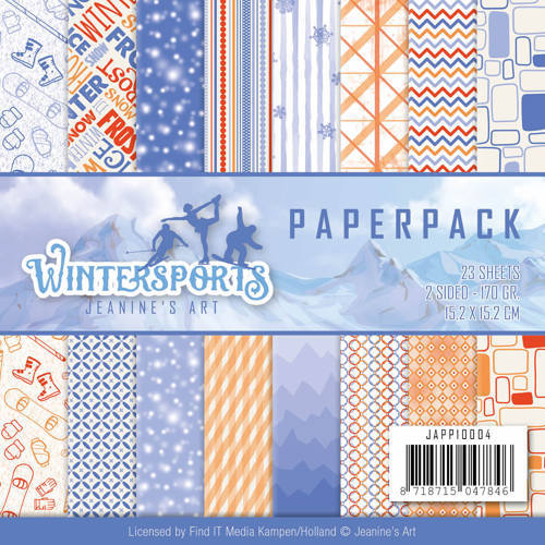 JAPP10004 Paperpack - Jeanine's Art - Wintersports
