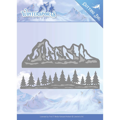JAD10029 Die - Jeanine's Art - Wintersports - Mountain Border