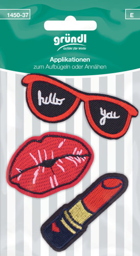 1450-37 (E) Applicatie Lippen+Lippenstift+Zonnebril