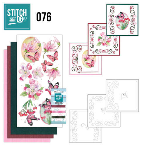 STDO076 Stitch and Do 76 - Pink Flowers
