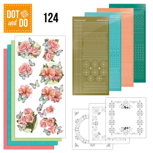 DODO124 Dot and Do 124 - Pink flowers and butterflies