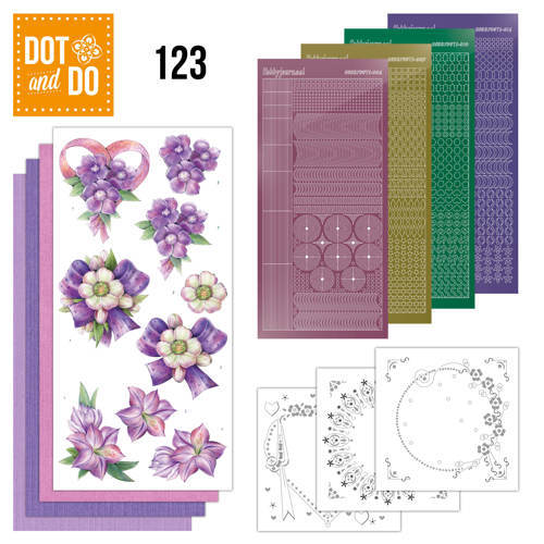 DODO123 Dot and Do 123 - Purple Flowers