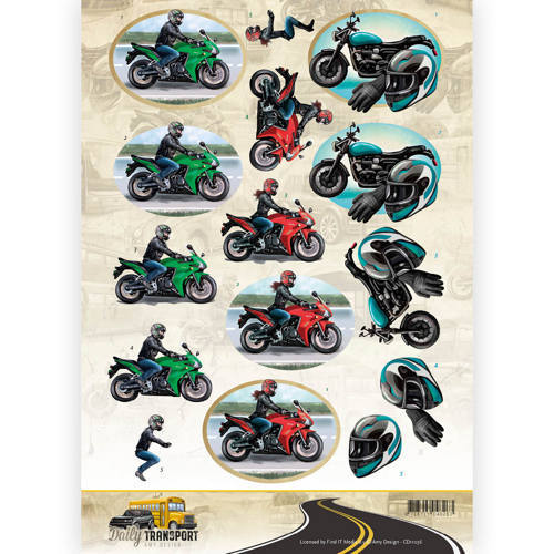 CD11036 3D Knipvel - Amy Design - Daily Transport - Motorcycling