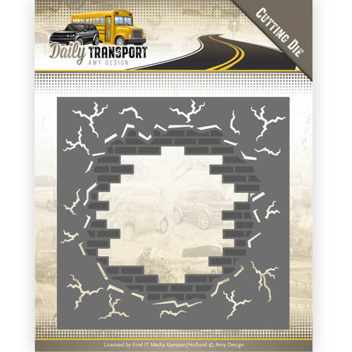 ADD10128 Dies - Amy Design - Daily Transport - Brick in the Wall