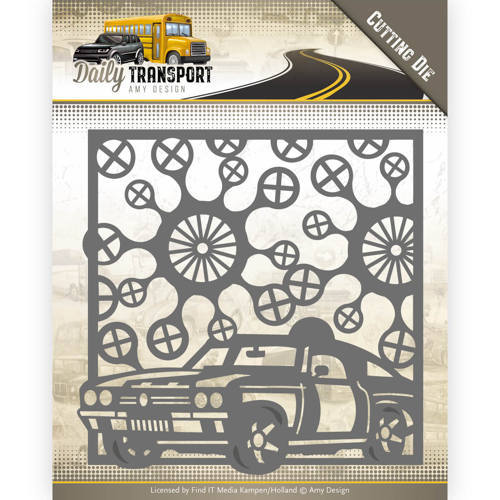ADD10127 Dies - Amy Design - Daily Transport - Car Frame