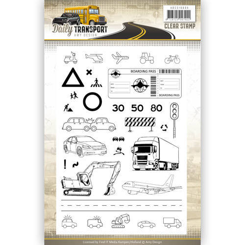 ADCS10035 Clearstamp - Amy Design - Daily Transport