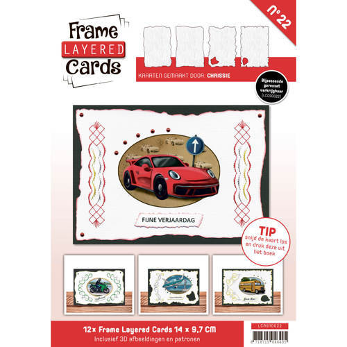 LCA610022 Frame Layered Cards 22 - A6 Daily Transport